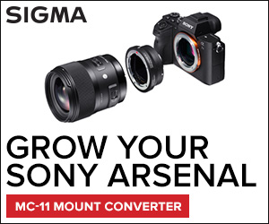 Ad: Grow your lens arsenal with the Sigma MC-11 camera mount adapter.