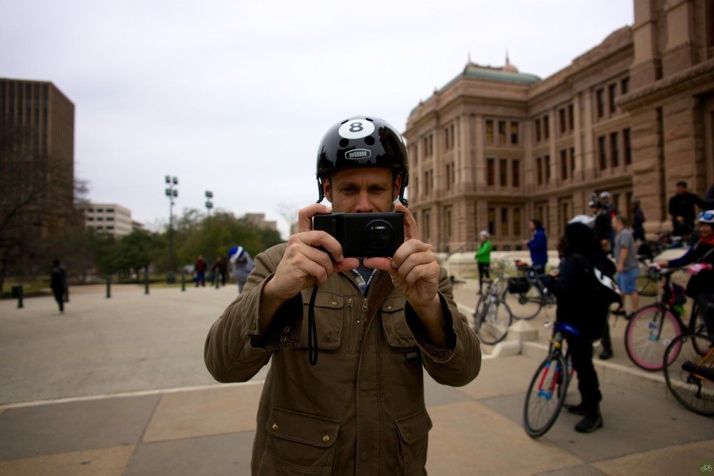 Dan on assignment with me in Austin, in 2014