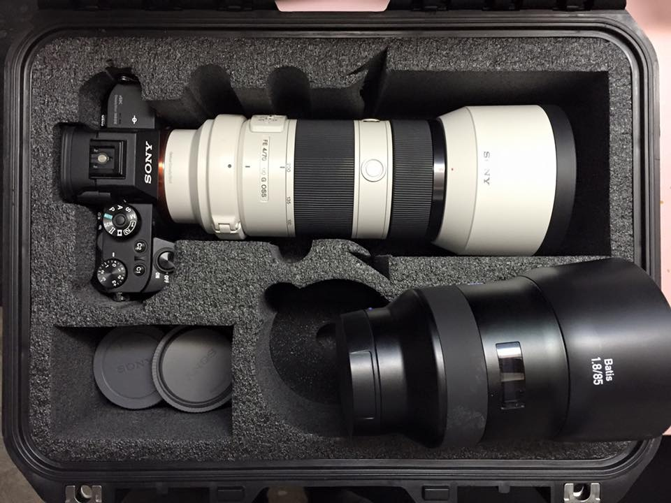 Sony 70-200 4 attached to the A7RII.