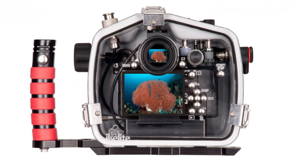 Ikelite underwater housing.