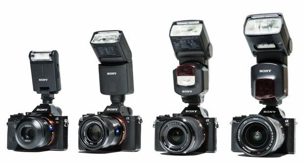 Sony-HVL-F20m-F32M-F43M-F60M-flashes
