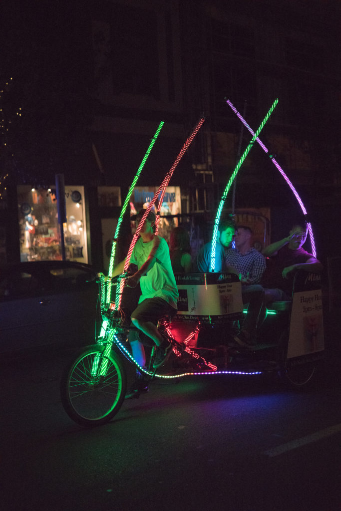 Pedicab at night, 50mm