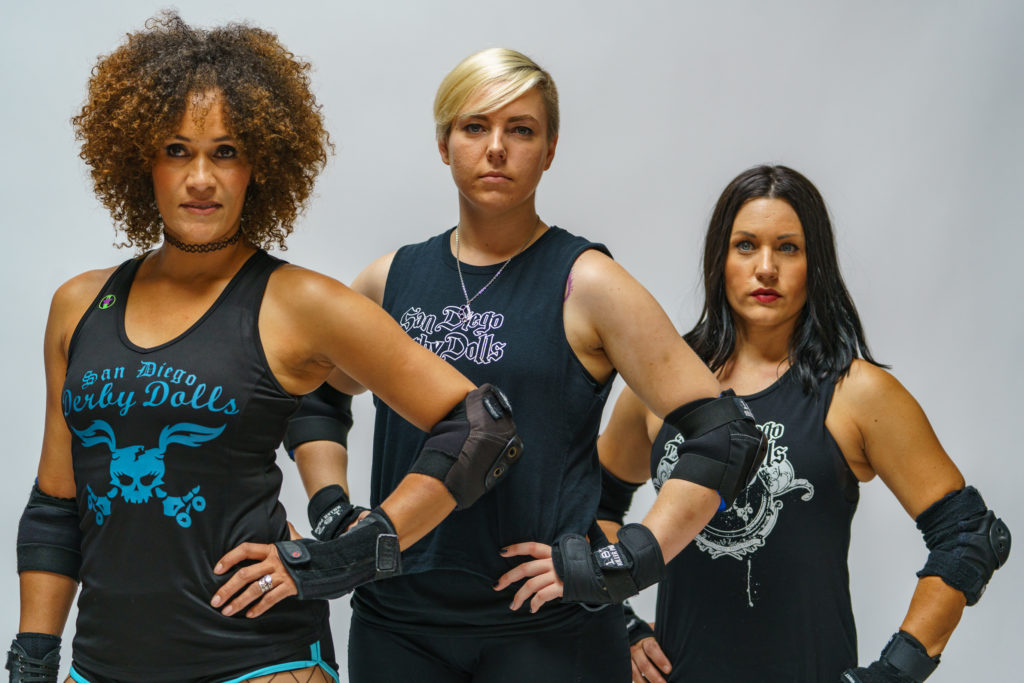 Roller Derby studio pose