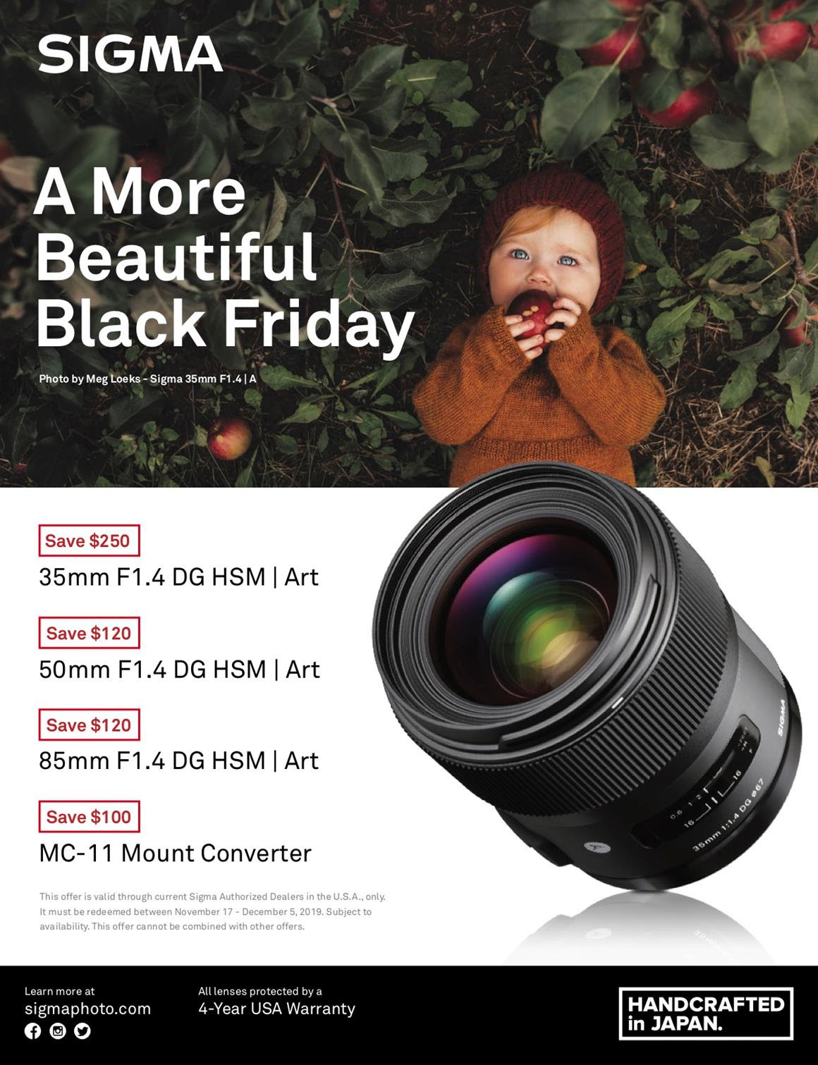 Sigma Black Friday Promotion