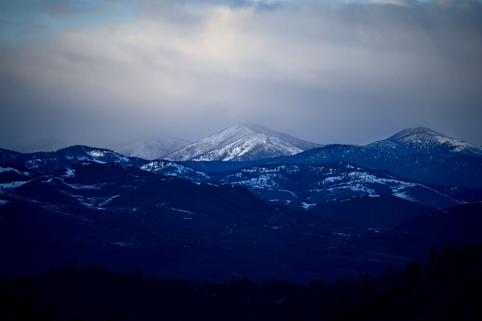 Methow Landscape at Dusk